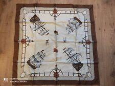 Superbe foulard Richel Paris 90cm sur 90cm pur soie
