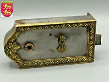 Ancienne Serrure Fer et Bronze Antique French Door Lock