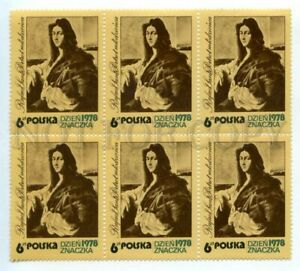 501388 POLAND 1978 year Stamp DAY block of six stamps