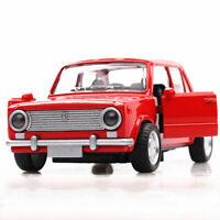 Vintage Lada VAZ-2101 1:36 Metall Die Cast Modellauto Rot Spielzeug Pull Back