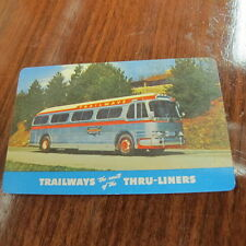 Vintage Advertising Pocket Wallet Calendar Card Carolina Trailways 1956 Bus
