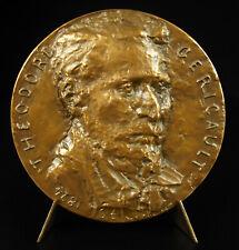 Médaille Théodore Géricault inspiration Mazeppa sur son cheval Ch AUFFRET medal