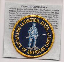 Lexington Massachusetts Souvenir Patch