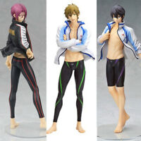 3pcs Anime Free! Iwatobi Swim Club 1/8 PVC Figure Model Toy Doll Gift New No Box