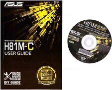 DRIVER CD + MANUALE x scheda madre main board ASUS H81M-C
