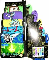 Rick & Morty Socks Primark Green Purple Red Mens 5 Pack Size 6 to 8 or 9 to 12