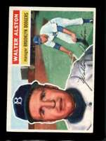 1956 TOPPS #8 WALT ALSTON EXMT RC ROOKIE DODGERS MG (WB) HOF  *XR9902