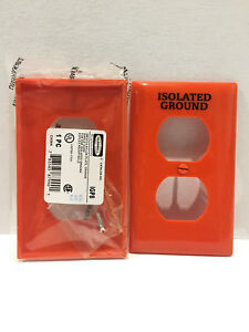 HUBBELL IPG8  RECEPTACLE PLATE NYLON ORANGE LOT OF 10!!