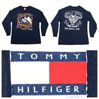 VINTAGE 90S TOMMY HILFIGER L/S STURGIS MOTORCYCLE RALLY WEEK USA TEE T-SHIRT M
