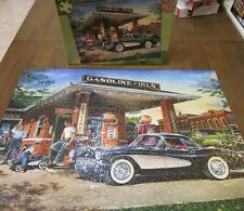 Master Pieces FULL SERVICE Jigsaw Puzzle 1000 Pc Gas Station Corvette Hatala GUC