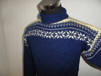 vintage sweater Rollkragenpulli Wolle 80s strickpulli 80er wollpulli oldschool M