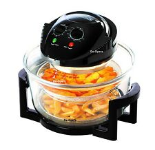 NEW 12 LITRE PREMIUM BLACK HALOGEN CONVECTION OVEN COOKER ACCESSORIES