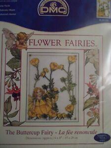"Cross stitch Kit Flower Fairies "" The Buttercup Fairy "" New DMC"