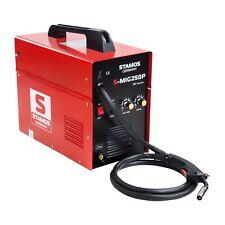 STAMOS Mig Mag Schutzgas Schweissgerät Inverter Schweissmaschine 250A 230V Kabel