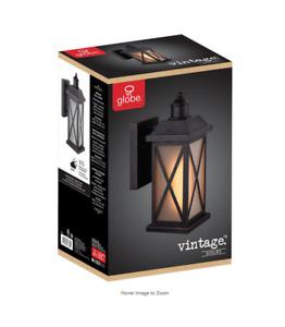 Globe Electric Ridley 1Light Bronze Outdoor Wall Lantern Sconce DkBronze 905 NIB