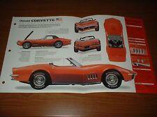 ★★1969 CHEVY CORVETTE ORIGINAL IMP BROCHURE SPECS INFO 69 427 L71 CONVERTIBLE★★