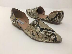 NWOB Steve Madden Darian Womens Snake/Gold Print Flats Shoes Sz 9M