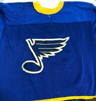 VINTAGE RAWLINGS ST. LOUIS  BLUES NHL HOCKEY JERSEY BOYS SIZE M