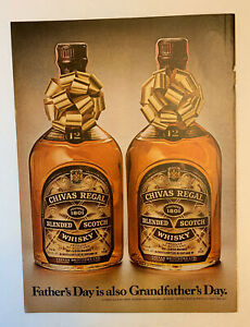 1978 Chivas Regal Scotch Whisky Print Ad Original Father's Day Grandfather's Day