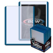 25 BCW 3 x 4 TOPLOAD BASEBALL TRADING CARD HOLDERS BLUE BORDER HARD PROTECTORS