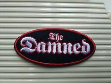 THE DAMNED  WOVEN SEW OR IRON ON PATCH