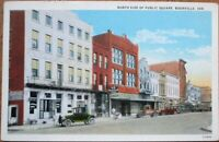 Boonville, IN 1920s Postcard: North Side of Public Square - Indiana Ind