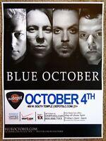 BLUE OCTOBER 2011 Gig POSTER Concert Salt Lake City Utah