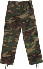 Woodland Camo Tactical BDU Pants Cargo Army Fatigues Camouflage Trouser Unisex