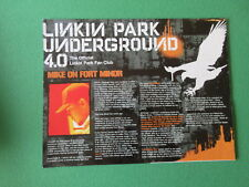 LINKIN PARK UNDERGROUND FAN CLUB 4.0 OFFICIAL FOLD OUT POSTER