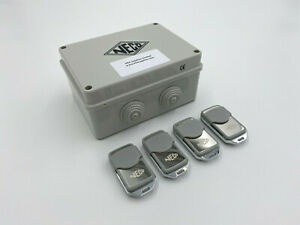 Neco (MK1) Remote Control System for Roller Shutters /  Garage Doors & 4 Remotes