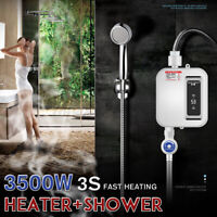 3500W Mini Tankless Electric Shower 3S Instant Hot Water Heater Bathroom  ⇝ y
