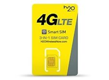H2O 3 in 1 SIM PRELOADED w/ 1 MONTH of $30 PLAN INCLUDED