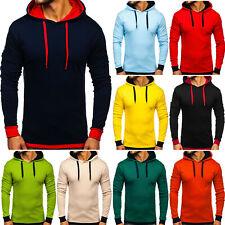 Kapuzenpullover Pullover Sweatshirt Pulli Hoodie Sport Classic Herren BOLF Basic