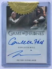Conleth Hill & Peter Dinklage Dual Autograph Incentive Game of Thrones Season 7
