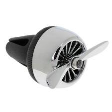 Car Air Outlet Perfume Mini Fan Smoke Odor Eliminator Silver