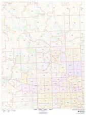 Oakland County, Michigan ZIP Codes Laminated Wall Map (MSH)