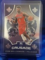 2019-20 Panini Chronicles Zion Williamson RC Rookie Card Crusade #529 Pelicans