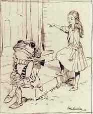 Signe Métallique Rackham Arthur Alice et la grenouille laquais A4 12x8 aluminium