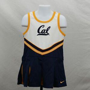 Cal Bears Cheerleader Uniform Baby Girls 4T One Piece Skirt Nike New ST119