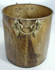 ANTIQUE BRASS COPPER ART PLANTER POT BUCKET CANNISTER CAN GATE BRACKET HANDLES