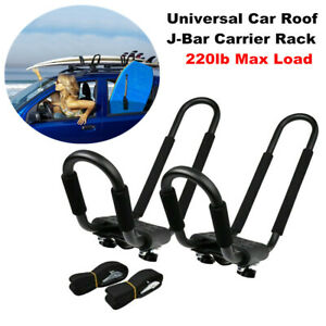 Universal Car SUV Roof J-Bar Rack Kayak Boat Canoe Surf board Mount Carrier Kit
