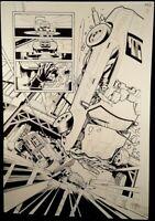 DC Comics RED HOOD ARSENAL #12 page 12 Original Published Art Joe Bennett JOKER