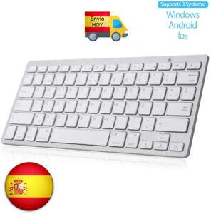 MINI TECLADO PC BLUETOOTH INALAMBRICO Android IOS Smart TV Laptops ESPAÑOL Ñ