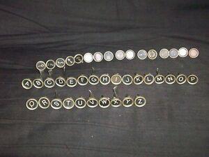 42 Vintage Underwood Typewriter Keys Steampunk or Art Crafts