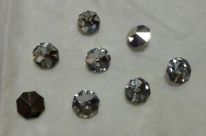 8mm Preciosa Fire Ice crystal aluminum foiled doublets, 1 gross, NOS BIN250