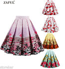 CHEAP~ Vintage Rockabilly 1950s Swing Dance Dress Pin Up Retro Rock n Roll Skirt