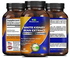 Pure White Kidney Bean Extract for Weight Loss - Natural Carb Blocker Supplement