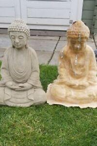 Latex Mould to make Garden Ornament Large Meditating Buddha Concrete