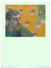 PAUL GAUGUIN LES MISERABLES FLOWER GREEN LIMITED EDITION BIG BORDERS ART PRINT