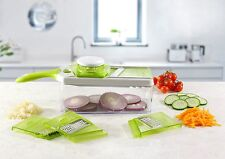 Mandolin Slicer Set, Cuts Fruits & Vegetables, Straight & Julienne, Thick/Thin